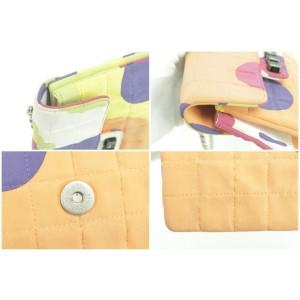 Chanel Clutch Limited Art Deco Keyboard Chain Flap 20ck0109 Multicolor Canvas Shoulder Bag
