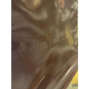 Chanel Dark Purple Patent Coco CC Enamel Tote 858420