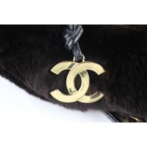 Chanel Dark Orylag Chain Tote 230926 Brown Fur Shoulder Bag