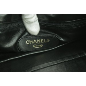 Chanel Duffle Boston Quilted 11ck1226 Black Lambskin Leather Weekend/Travel Bag