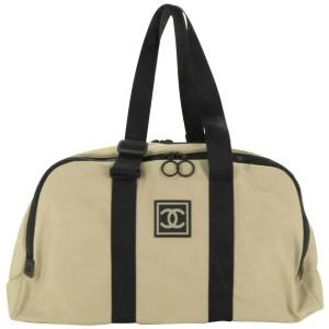 Chanel Duffle Cc Sports Line Boston 872154 Beige Canvas Weekend/Travel Bag