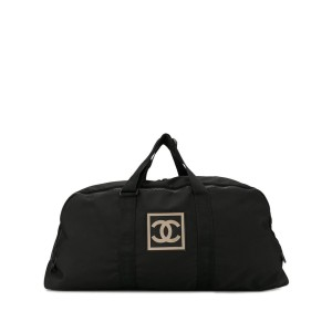 Chanel Duffle Extra Large Cc Logo Holdall 1ca516 Black Nylon Weekend/Travel Bag