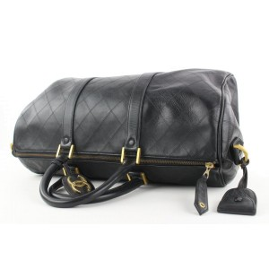 Chanel Black Quilted Lambskin Boston Duffle Bag 862821