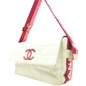 Chanel White Star Chocolate Bar Quilted Flap Bag 211858