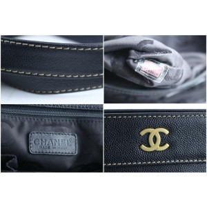 Chanel Executive Tote with Strap 1cr0320 Black Caviar Leather Shoulder Bag