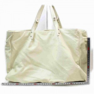 Chanel Extra Large Travel Shopper 860101 White Caviar Leather Tote