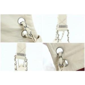 Chanel Giant Quilt Flap 02cz0731 Light Beige Leather Shoulder Bag