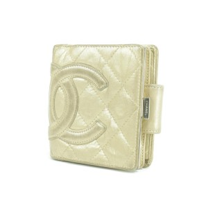 Chanel Quilted Gold Cambon Square Compact Wallet 856985