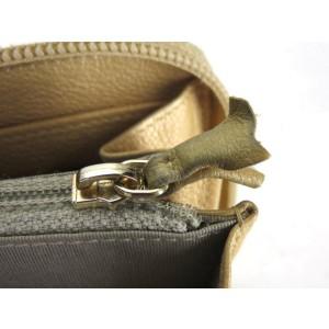 Chanel Gold Long Zip Around 216163 Wallet