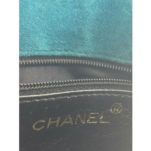 Chanel Gripoix Stone Mini Chain Flap 7ca428 Blue Turquoise Suede Leather Shoulder Bag