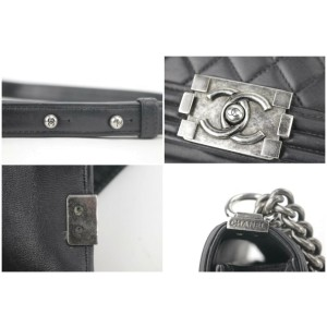 Chanel Handbag Boy Quilted Small 2ck1127 Black Leather Cross Body Bag