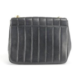 Chanel Handbag Classic Flap Vertical Quilted Mini 22ck1207 Black Lambskin Leather Cross Body Bag