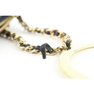 Chanel Black Lambskin Gold Handcuff Clutch Wristlet Pouch Bag 522cks38