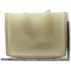 Chanel Jelly Extra Large Gm Clear Translucent Naked 872449 Ivory Polyurethane Tote