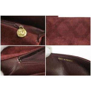 Chanel Jumbo Quilted Attache Business Kelly Briefcase 1ck1219 Burgundy Suede Laptop Bag