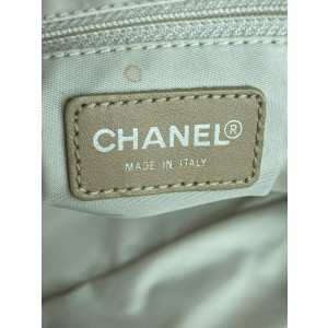 Chanel Line 17c69 Beige Canvas Tote