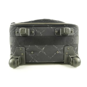 Chanel Black New Line Rolling Luggage Trolley Suitcase 584ccs312