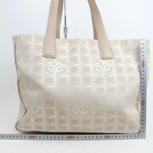 Chanel Line Travel 871715 Beige Canvas Tote