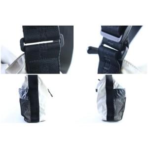 Chanel Jumbo Sports Logo Travel 218532 White Polyurethane Messenger Bag