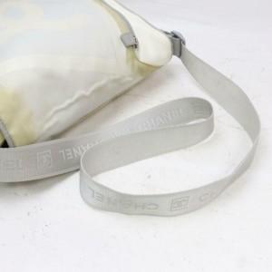 Chanel Messenger Sports Cc Logo 870887 Ivory Nylon Shoulder Bag