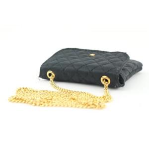 Chanel Mini Black Quilted Micro Chain Flap Nano Bag 715cas323