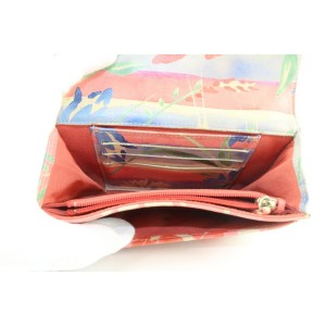 Chanel Rare Limited Quilted Hawaiian Flower Leather Classic Flap Wallet 723ca