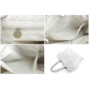 Chanel New Line 23ck0113 Pink Canvas Tote