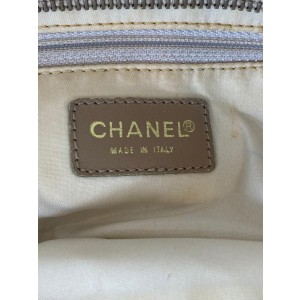 Chanel New Line Gm Shopper 16c65 Beige Canvas Tote