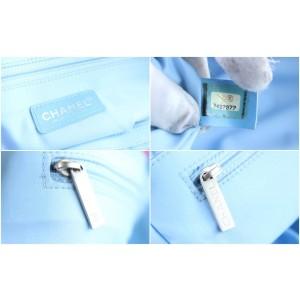 Chanel New Line Mm Shopper 223273 Blue Nylon Tote