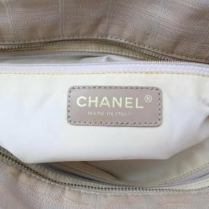 Chanel New Line Travel Gm 872765 Beige Nylon Tote