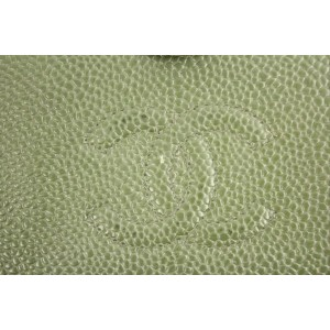 Chanel Olive Green Caviar Cc Logo Snap Bifold Flap 28cca606 Ccjy9 Wallet