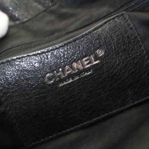Chanel On The Road Caviar Soft 872535 Black Leather Tote