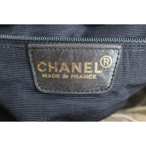 Chanel Patchwork 2ct915 Brown Suede Leather Weekend/Travel Bag