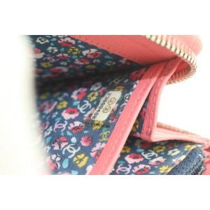 Chanel Pink Leather CC Logo Zippy L-Gusset Wallet 13ccs111