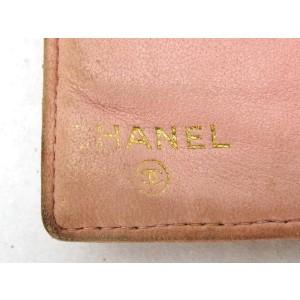Chanel Pink Long Caviar Cc Logo 219342 Wallet