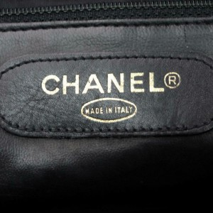 Chanel Duffle Quilted Lambskin Boston with Strap 870506 Black Leather Weekend/Travel Bag