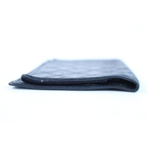 Chanel Quilted Lambskin Flap Wallet 220229 Black Coated Canvas Clutch