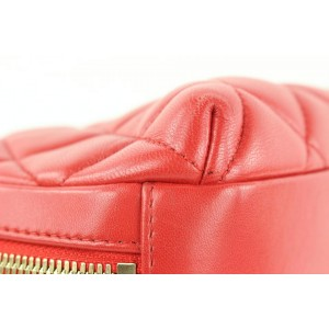 Chanel Red Quilted Lambskin Trendy CC Bowling Bag Coco Crossbody 276cas512