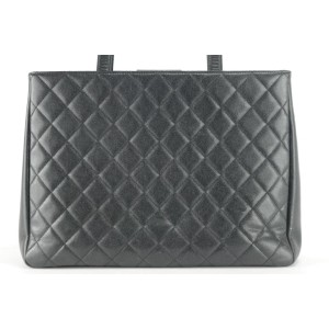 Chanel Shopping Bag 9ck1211 Black Caviar Leather Tote
