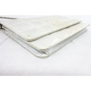 Chanel Silver on Chain Classic Flap Metallic 216159 Wallet
