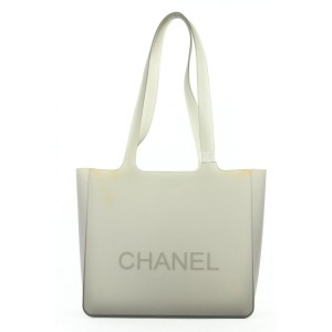 Chanel Clear Rubber Translucent Grey Jelly Tote bag 33cas422