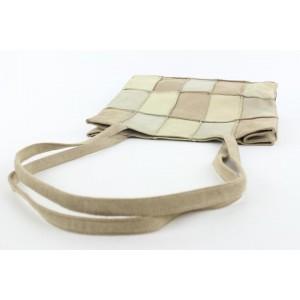 Chanel Brown Suede Patchwork Tote Bag 815cas47