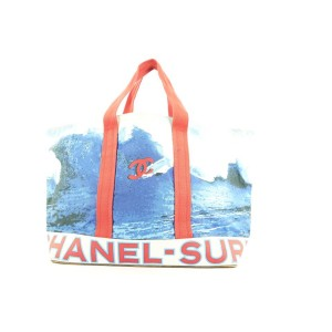 Chanel XL CC Surf Wave Tote Bag 573cks311