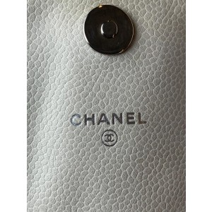 Chanel Wallet on Chain Caviar Half Moon Crescent Flap 2ca61 Off-white Leather Cross Body Bag