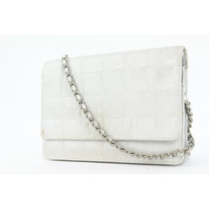 Chanel Silver New Line Wallet on Chain Bag WOC 2ccs114