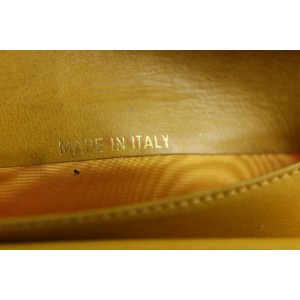 Chanel Yellow Mustard Caviar CC Logo Long Flap Wallet L-Gusset Yen 7CCs1223
