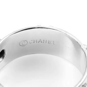 Chanel Camélia 18K White Gold Diamond Band Ring