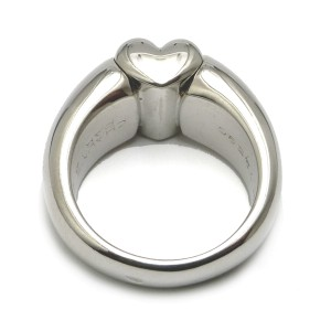 Chaumet 18K White Gold Heart Ring
