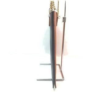 Chloe Orange Leather Chain Tote Bag 862481