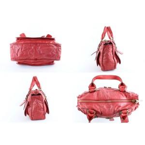 Chloé Bay 2mr1024 Red Leather Shoulder Bag